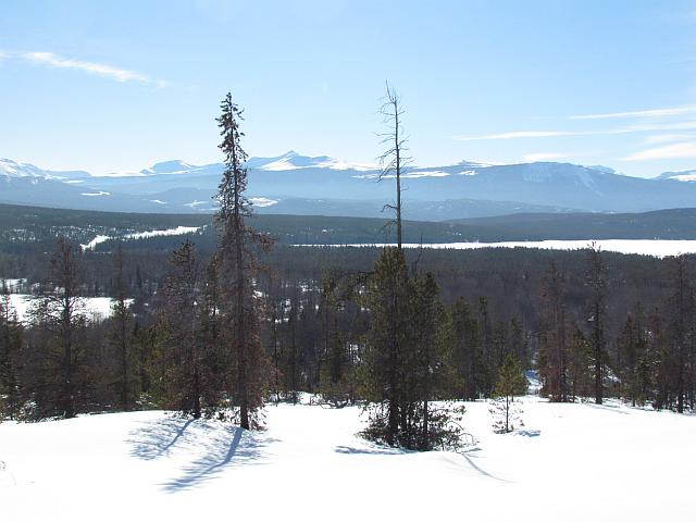Part of the panorama seen from the south bluffs at Kleena Kleene