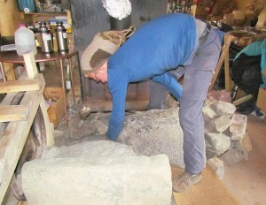 fitting the second stone oven wall