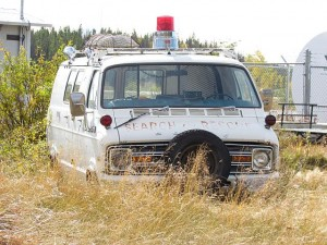 search and rescue van at Anahim Lake