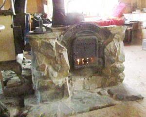 stone stove at Ginty Creek