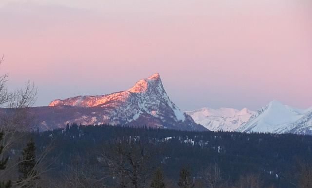 Finger peak, sunrise