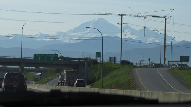 Mount Baker from the Freeway.